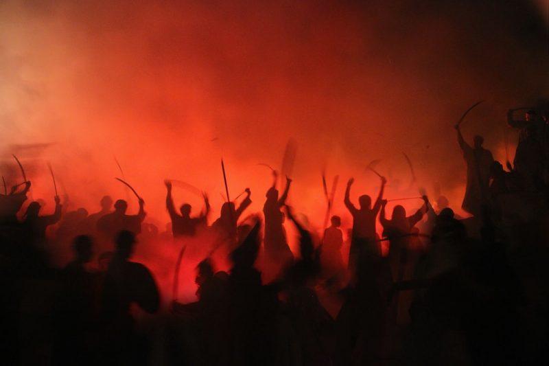 extremist riot