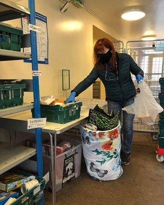 A Bournemouth Food Bank worker mentioned in the article